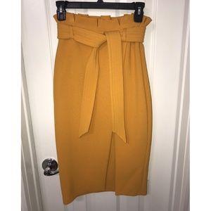 Yellow Topshop Pencil Skirt (NWOT), Sz 0
